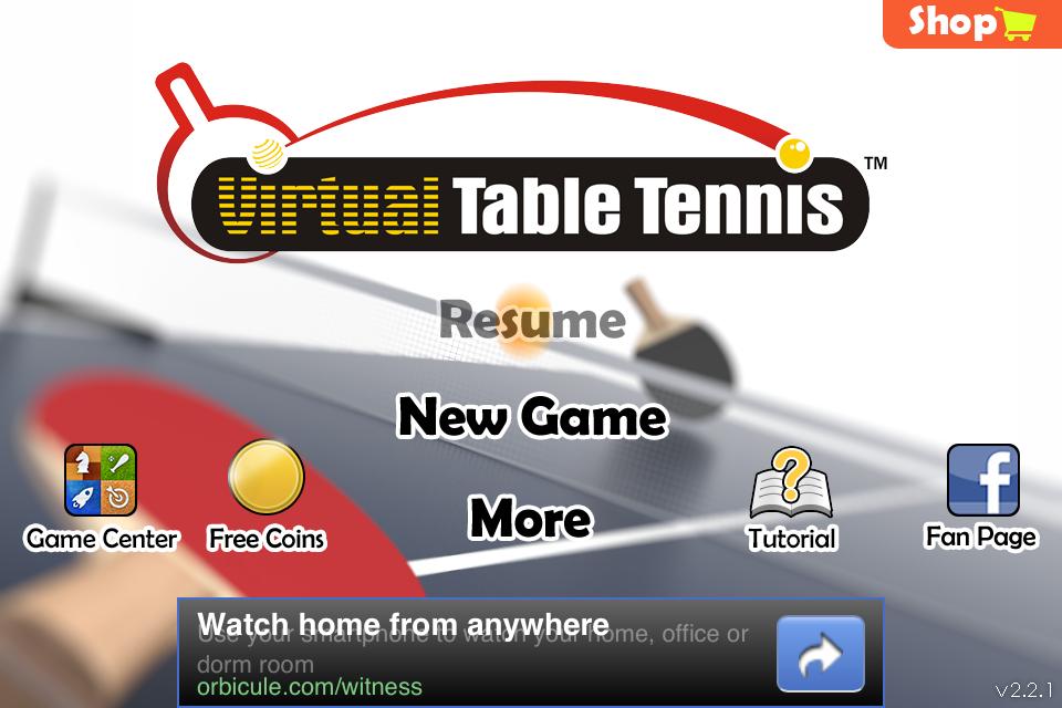 Virtual Table Tennis Online 2