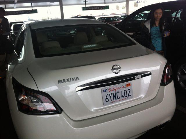 Nissan Maxima 2013 (Rear)