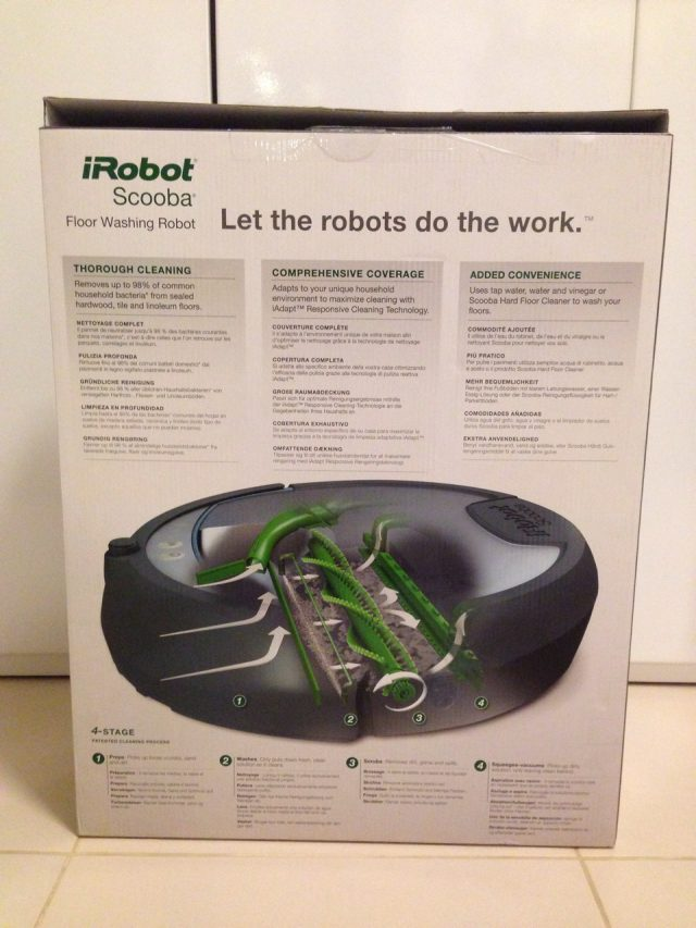 iRobot Scooba 390 Box Rear