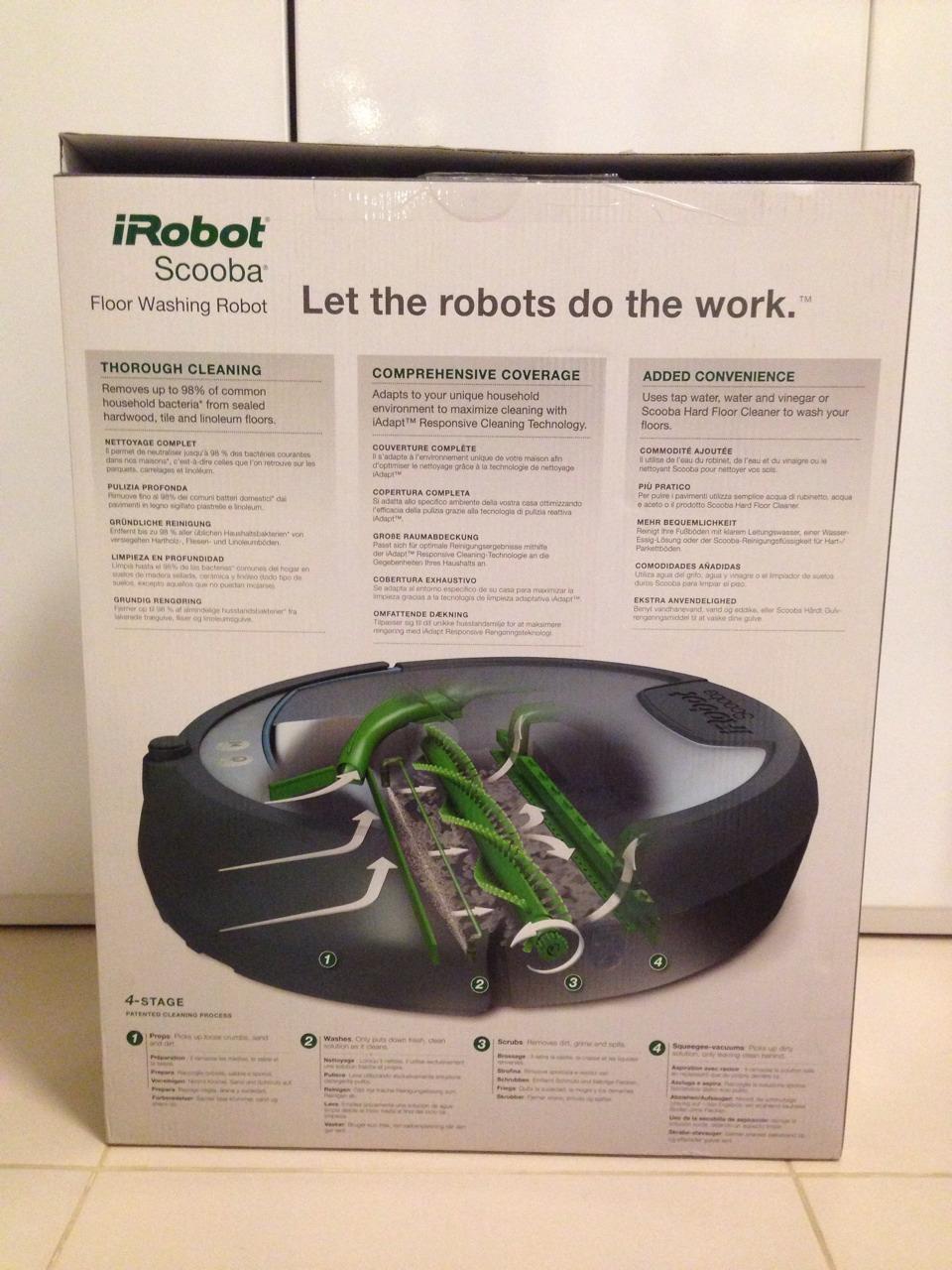 iRobot Scooba 390 Box Rear