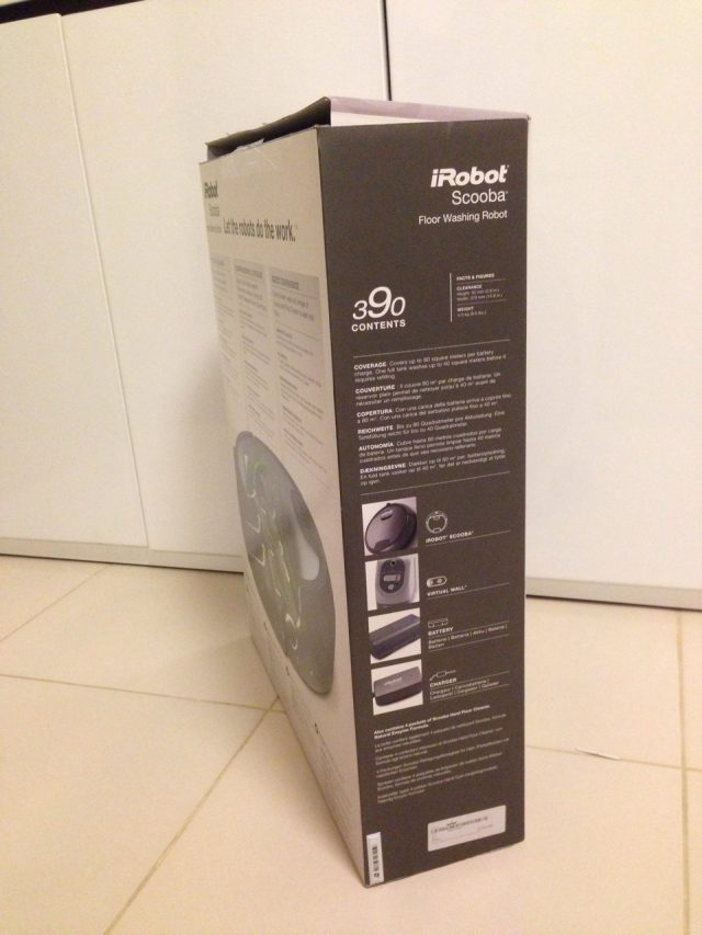 iRobot Scooba 390 Box Left
