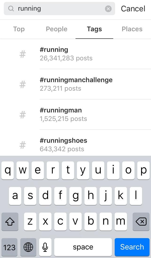 Hashtag Instagram Keyword Running (English)