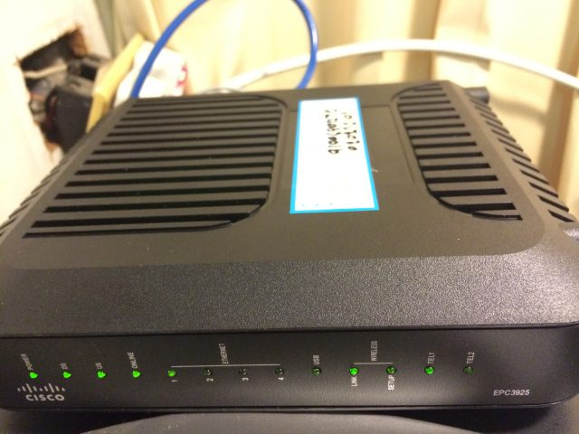 True DOCSIS Installation 3 (CISCO EPC3925 Front)