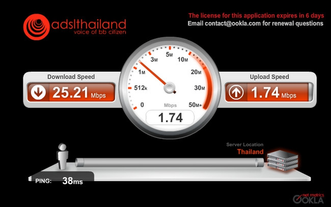 True DOCSIS Speedtest 1 (ADSLTHAILAND.COM)