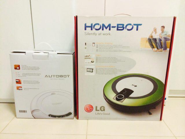 กล่อง Autobot Mini Vacuum กับ กล่อง LG HOM-Bot VR5906LM