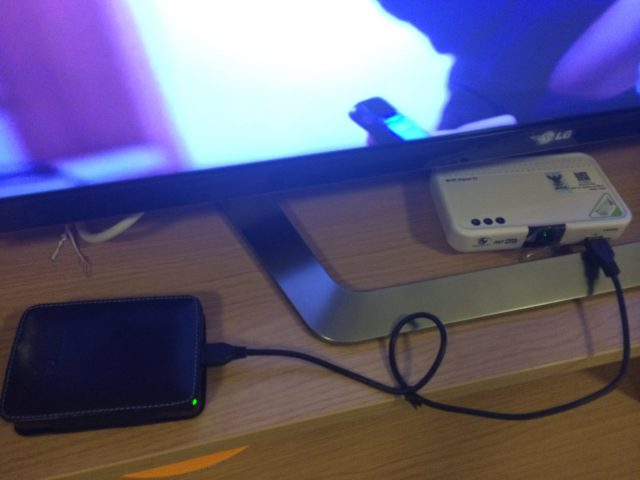 MCOT HDBOX View with External Harddisk