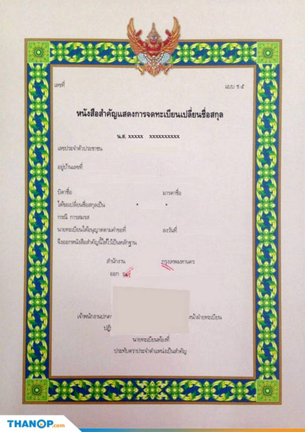 Marriage Certificate Article Surname Change Registration Certificate