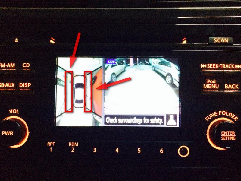 Nissan Teana L33 Camera View (ภาพจากกล้องวีดีโอ ท้ายรถ หลังรถ)