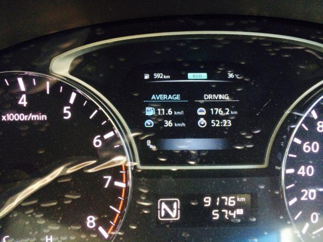 Nissan Teana L33 Intelligent 3D Display Average Driving
