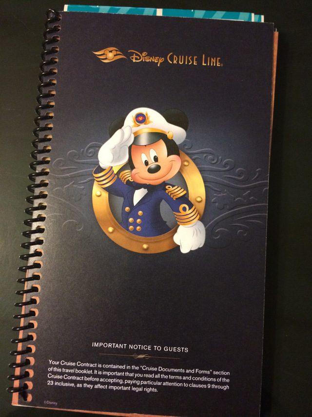 Disney Cruise Document Contract Book