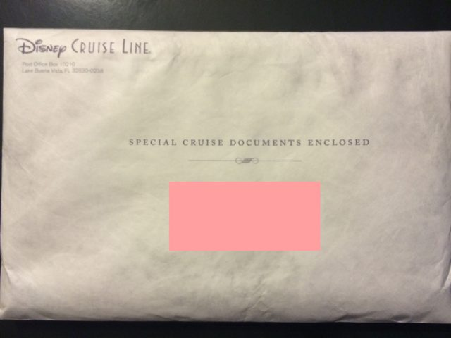 Disney Cruise Document Contract Package
