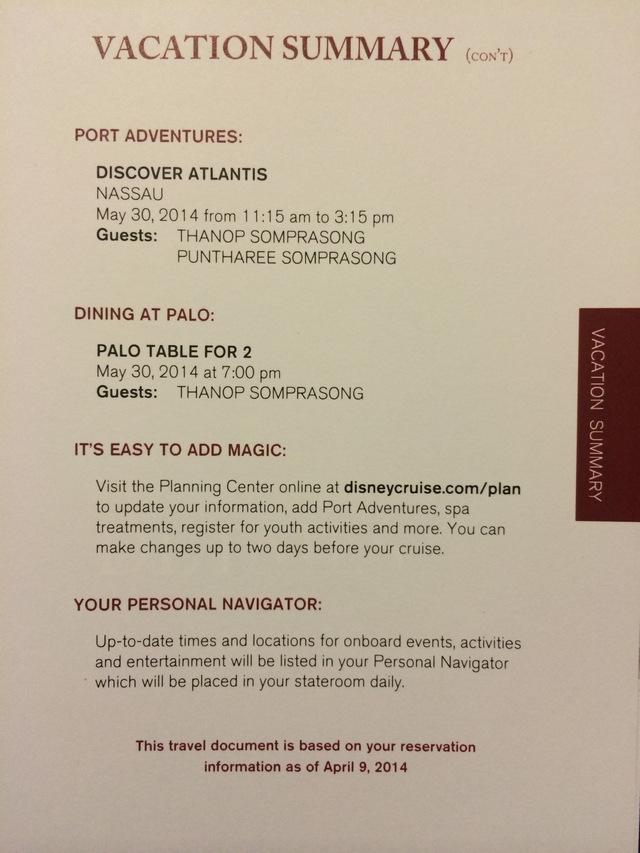 Disney-Cruise-Document-Vacation-Summary