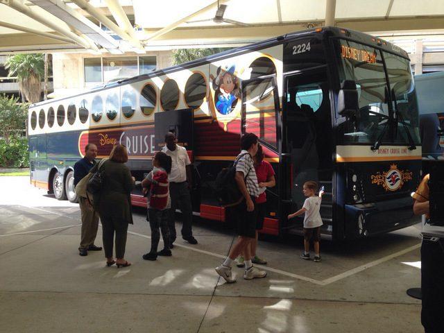 Disney Cruise Line Transportation Bus