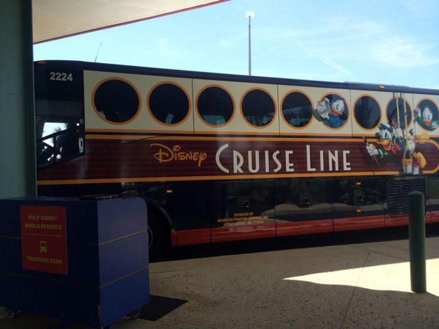 Disney Cruise Line Transportation Bus Arrival