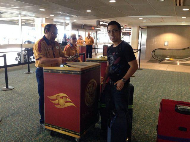 Disney Cruise Line Transportation Checkin Counter