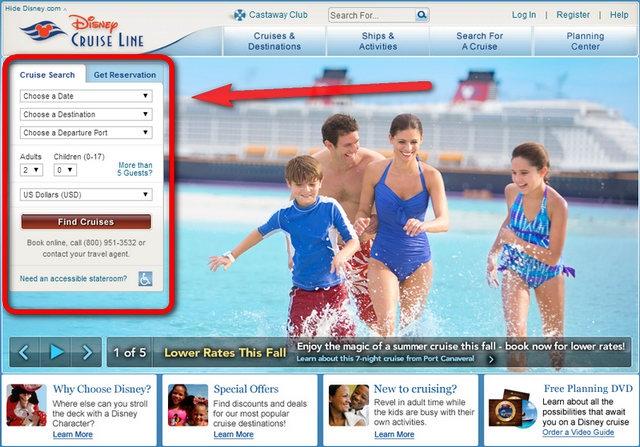 Disney Cruise Line Official Website (เว็บไซต์อย่างเป็นทางการ เรือสำราญดิสนีย์)