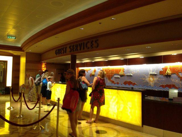 Disney Cruise Dream Guest Service Counter