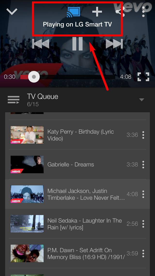 LG SmartTV webOS Youtube on SmartTV Playing