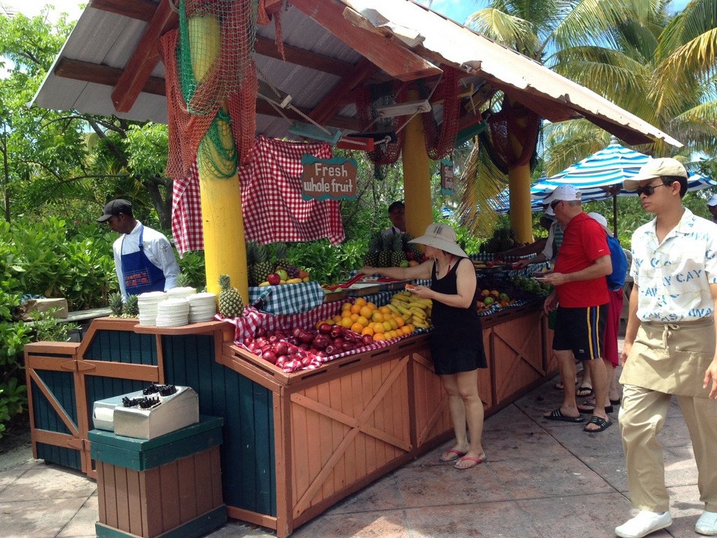 Castaway Cay Island Fruit Booth 1