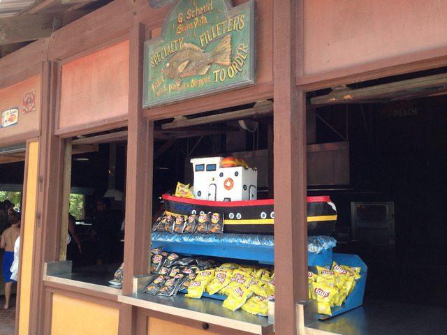 Castaway Cay Island Lunch Booth 1