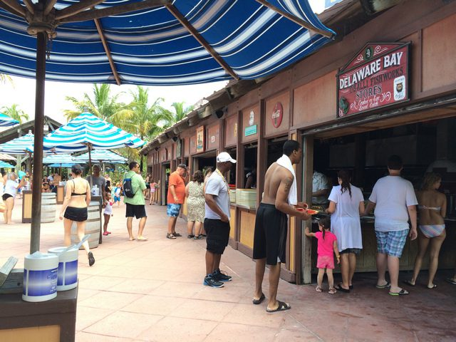 Castaway Cay Island Lunch Booth 2