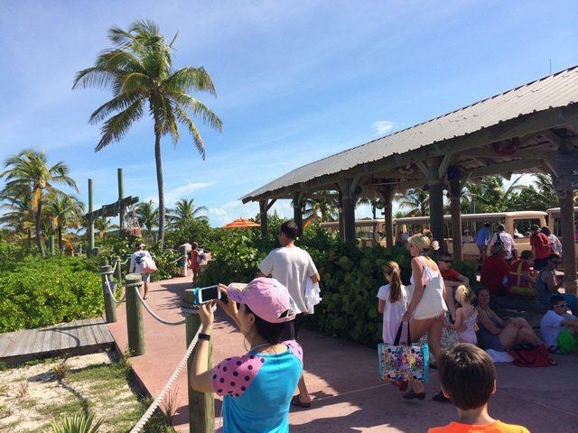 Castaway Cay Island Tram Station