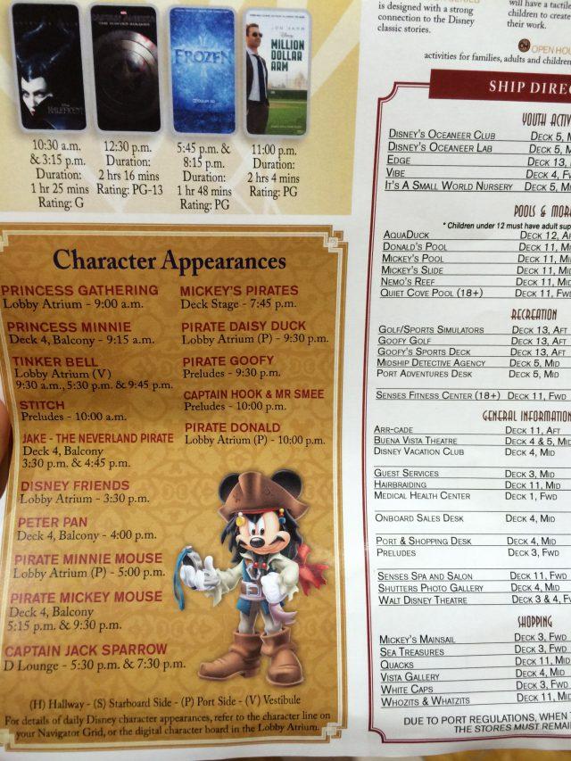 Disney Cruise Dream Day 2 Schedule