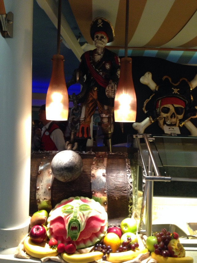 Disney Cruise Dream Pirate Night Party Food 1