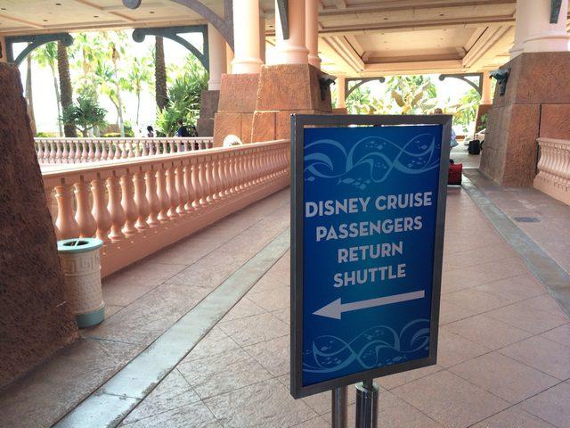 Disney Cruise Dream Port Adventure Return Passenger Sign