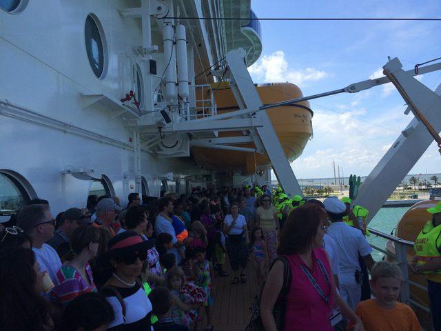 Disney Cruise Dream Ship Evacuation Practice 2