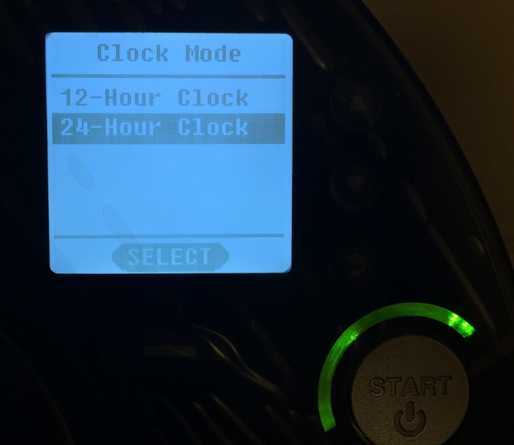 Neato XV Signature Pro Screen Clock Mode