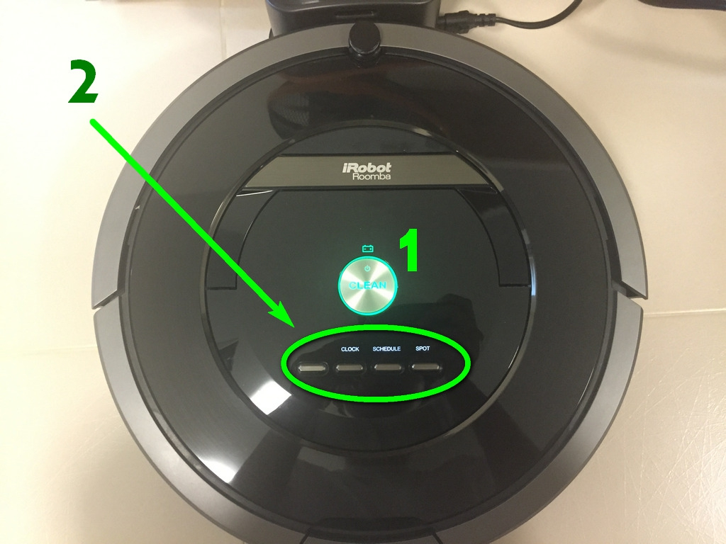 iRobot Roomba 880 Top Control Panel