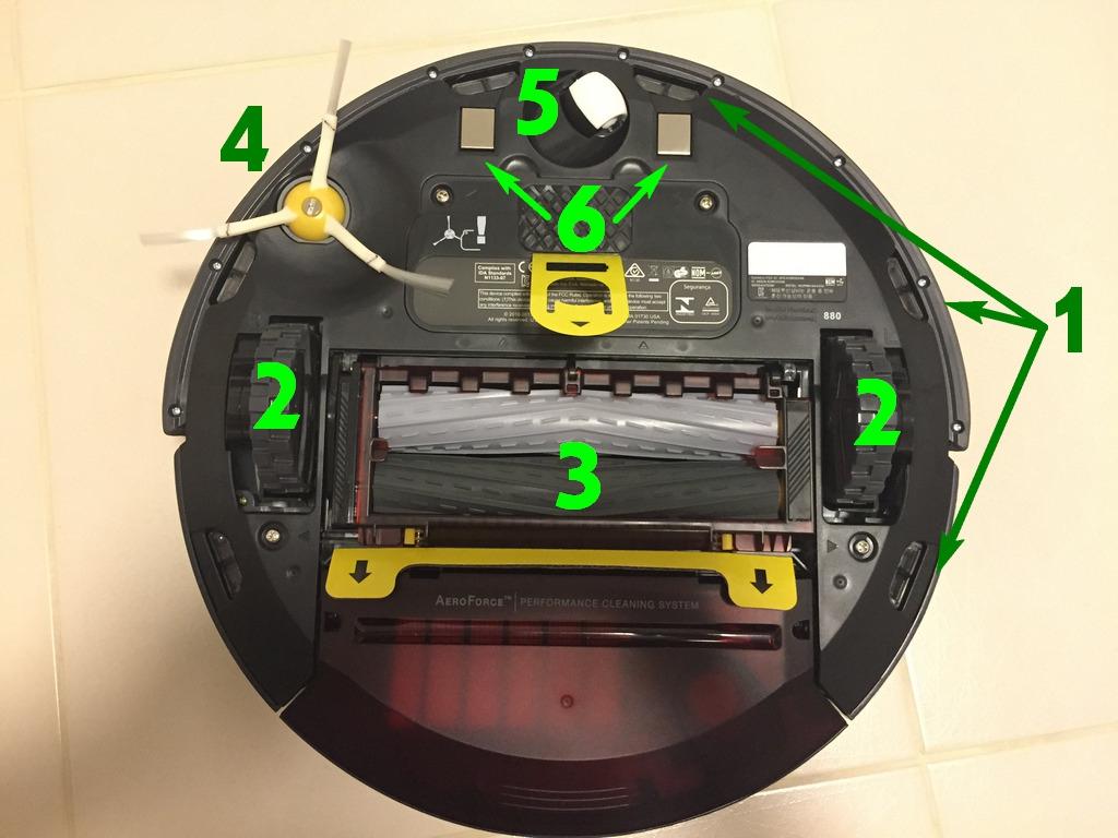 iRobot Roomba 880 Underside