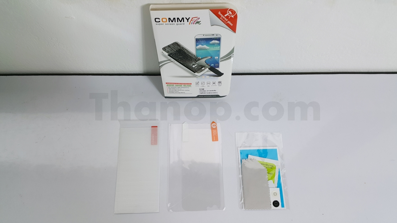 Commy Screen Guard Tempered Glass Package Component 1