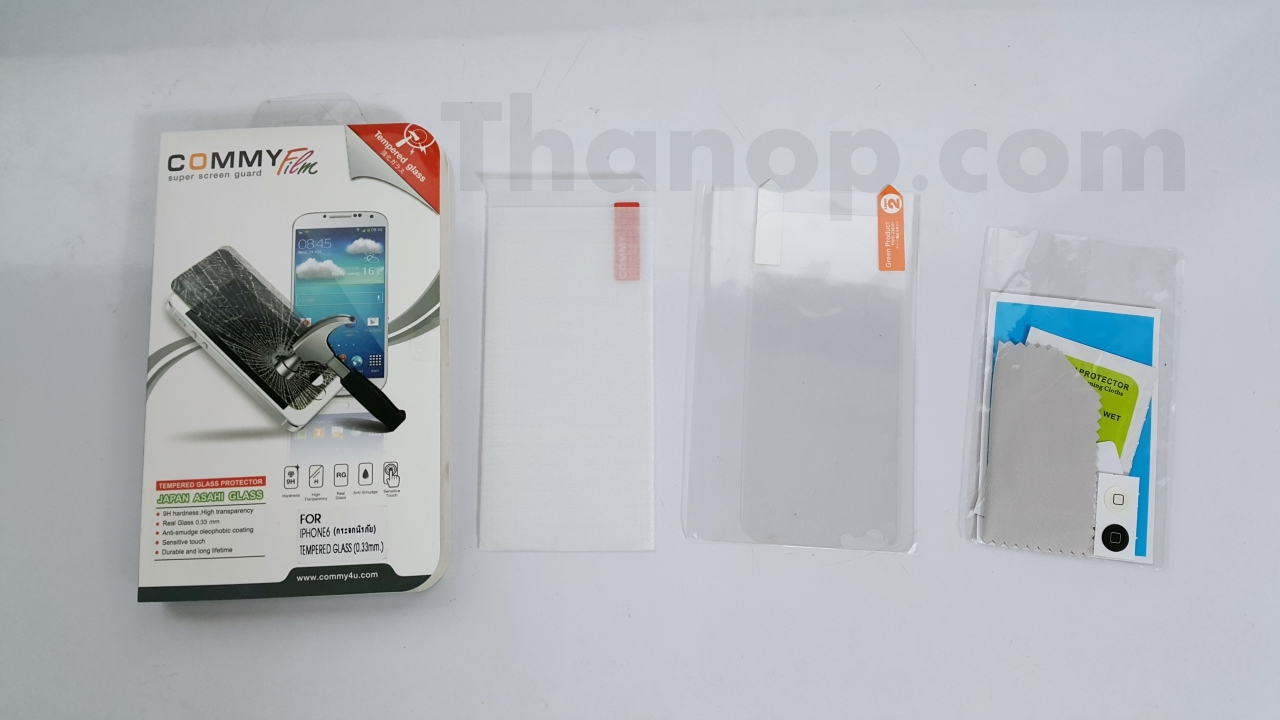 Commy Screen Guard Tempered Glass Package Component 2