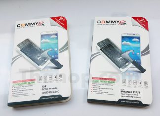 Commy Screen Guard Tempered Glass Package Front