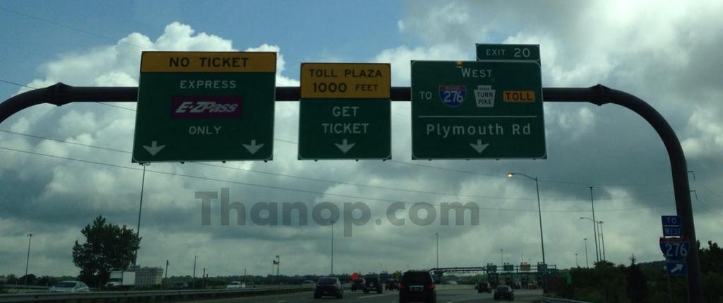 Driving in USA Pay Toll Ahead