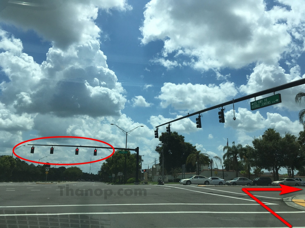 Driving in USA Right Turn on Red