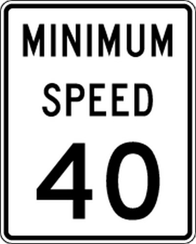 Driving in USA Minimum Speed Limit