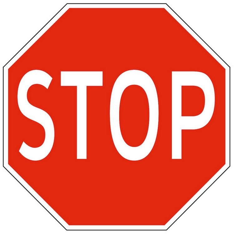 Driving in USA Stop Sign