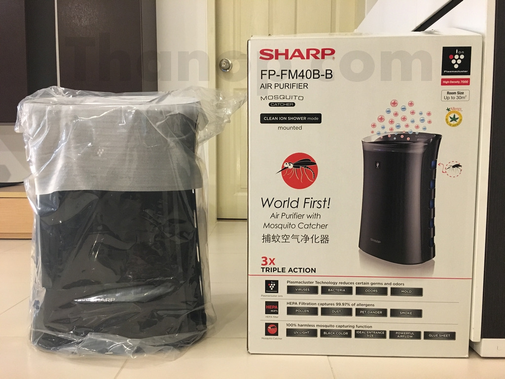 Sharp FP-FM40B-B Box and Machine in Plastic Bag