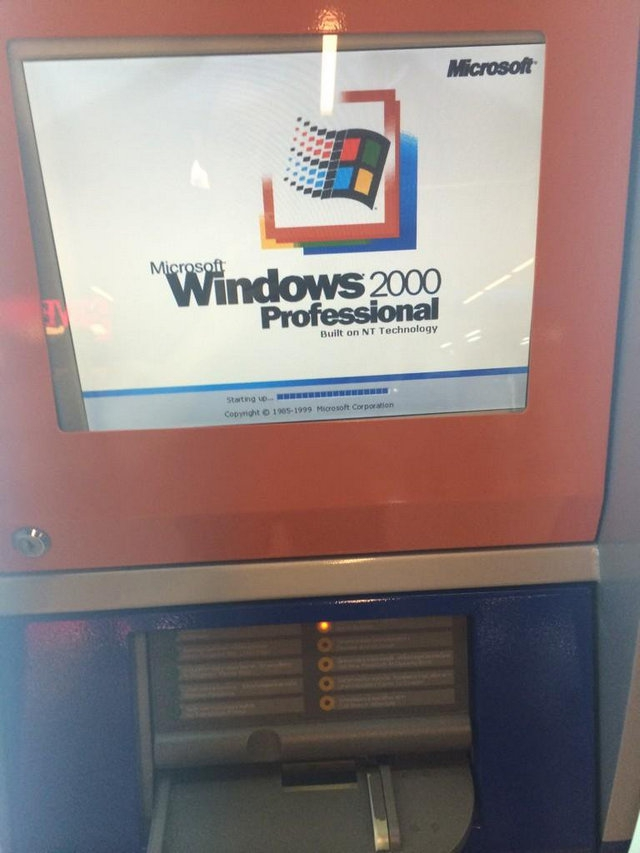 Windows 2000 Installed in Passbook Update Machine