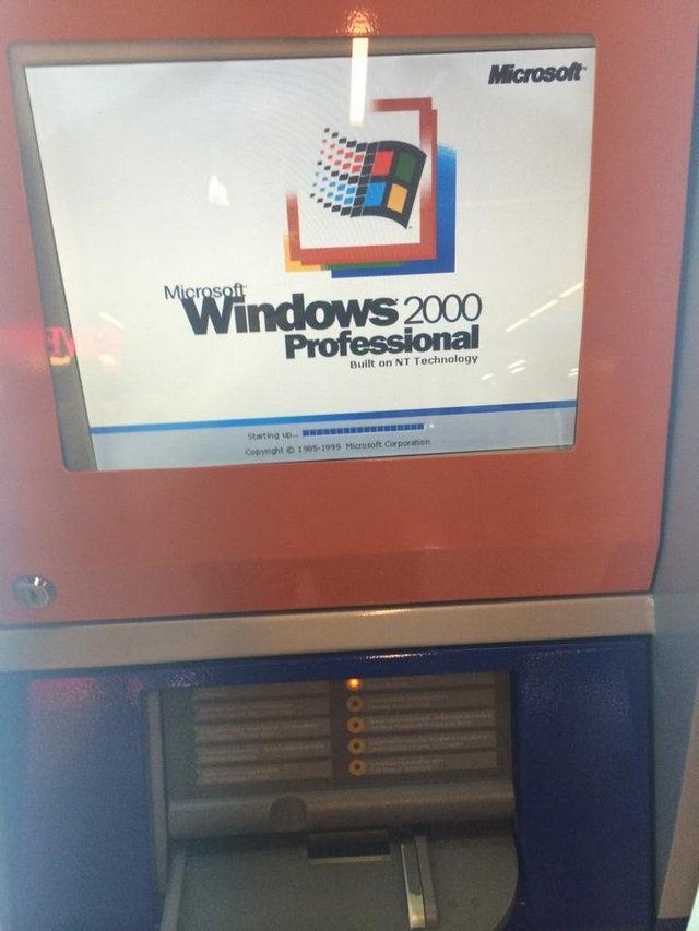 windows2000-installed-in-passbook-update-machine