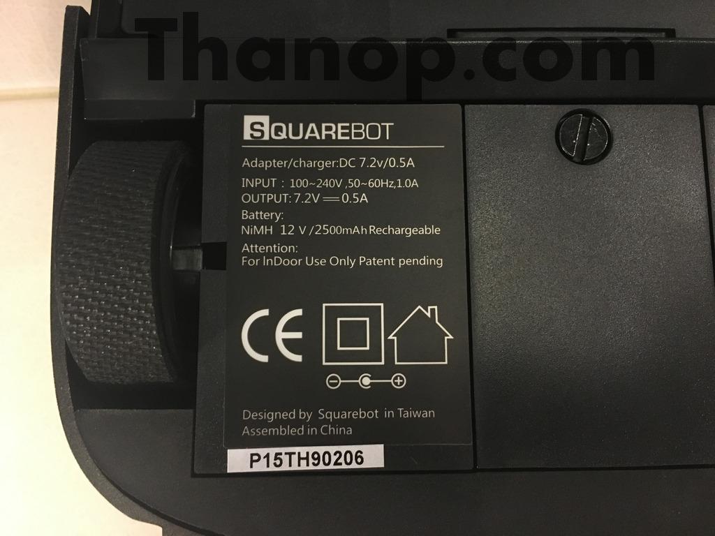 Squarebot Underside Label Information
