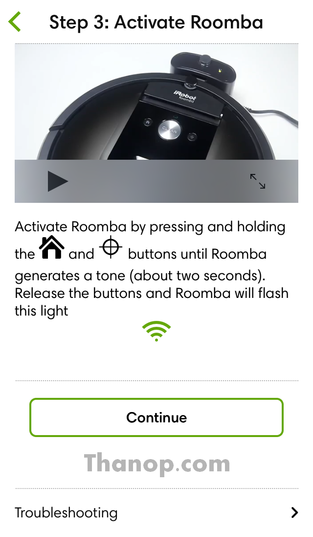 iRobot Home App Setup 3 Activate Roomba
