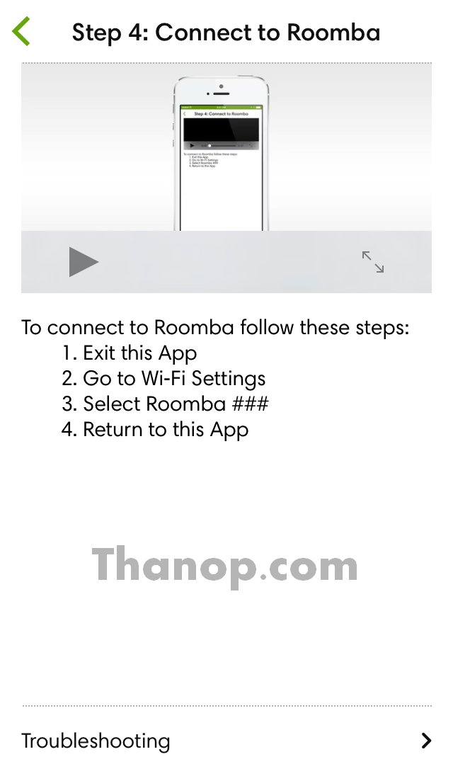 iRobot Home App Setup 4 Connect to Roomba
