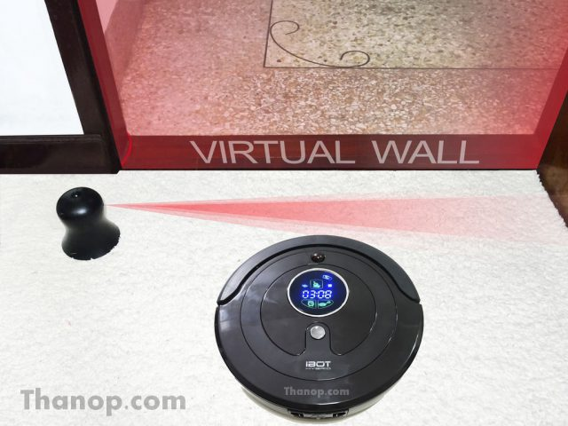 iBOT i800 Hybrid Feature Virtual Wall Working