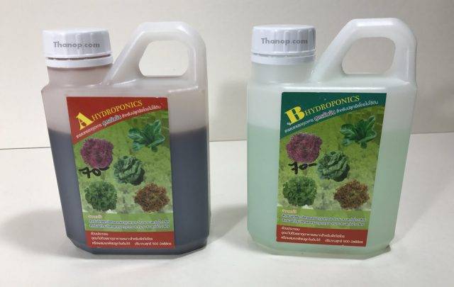 Hydroponic Vegetable in Bottle A and B Nutrients