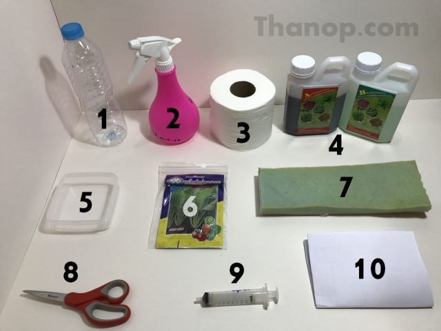 Hydroponic Vegetable in Bottle Component