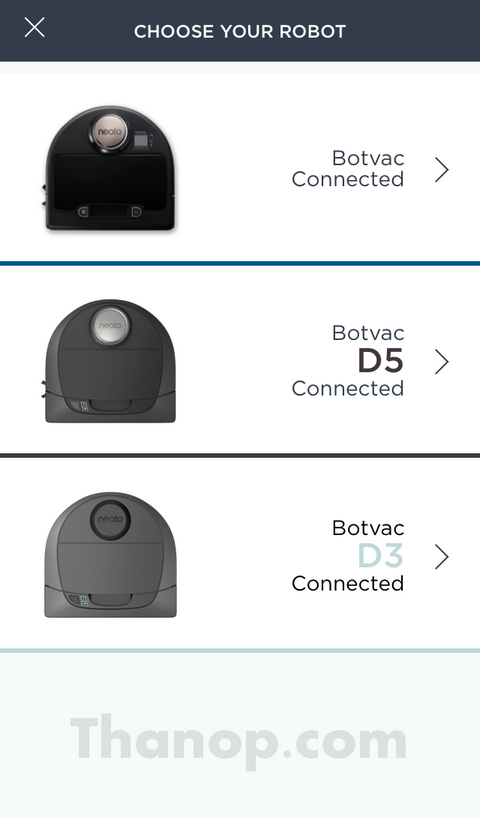 Neato Botvac D5 Connected App Choose Your Robot